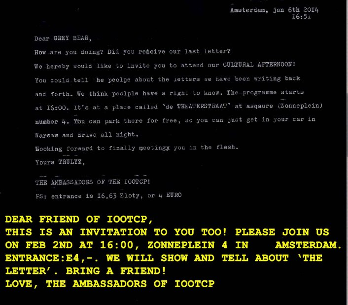 invitation the letter